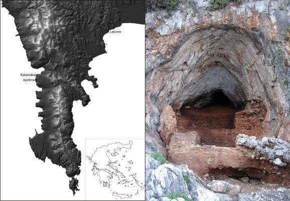 Η είσοδος της σπηλιάς Καλαμάκια (Πηγή: Journal of Human Evolution)