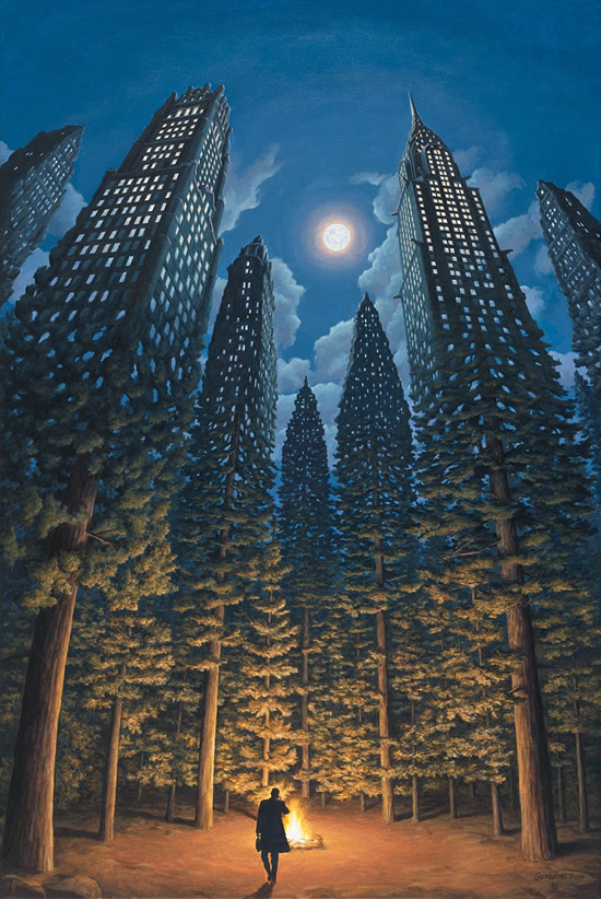 "Rob Gonsalves, ""Arboreal Office"""