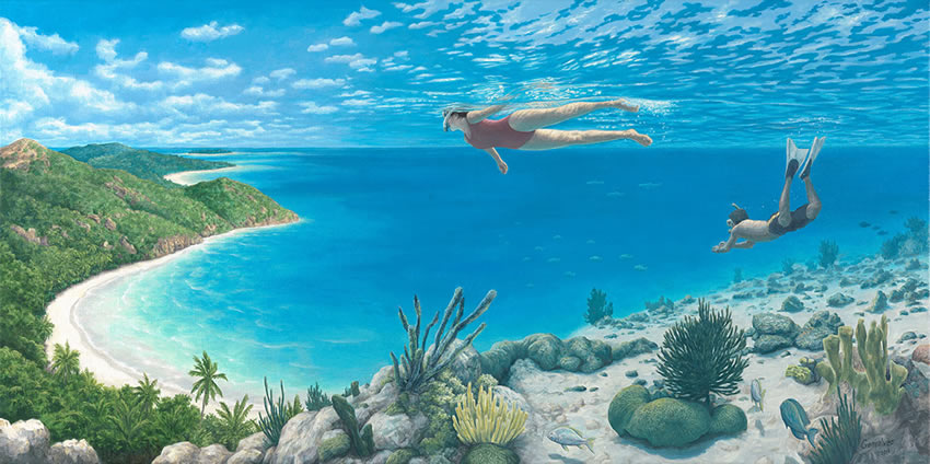 "Rob Gonsalves, ""Beyond the Reef"""