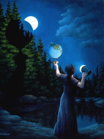 "Rob Gonsalves, ""New Moon Eclipsed"""