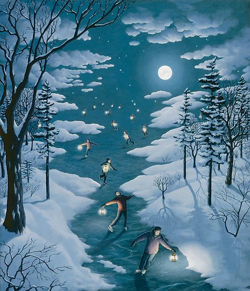 "Rob Gonsalves, ""Nocturnal Skating"""